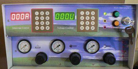 نمونه ای از اولین پنل های دیجیتال دستگاه رنگپاش الکترورنگ
